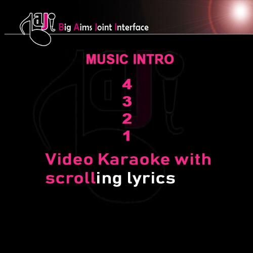 Apni aankhon mein basakar - Video Karaoke Lyrics