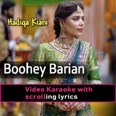 Boohey Barian - Video Karaoke Lyrics | Hadiqa Kiani