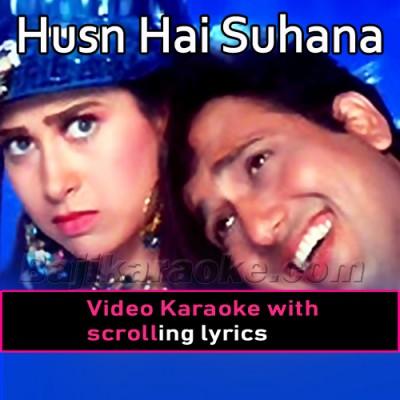 Husn hai suhana - Video Karaoke Lyrics