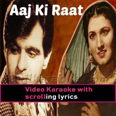 Aaj Ki Raat - Jugnu - Video Karaoke Lyrics | Noor Jehan