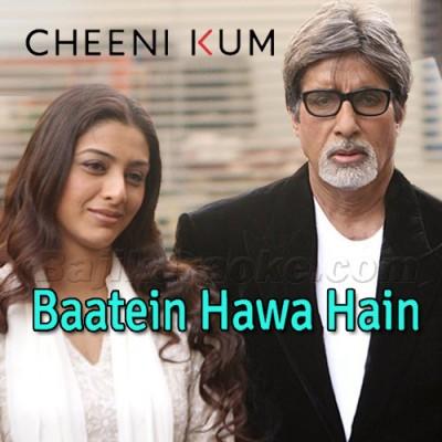 Baatein Hawa Hain Sari - Karaoke Mp3 - Shreya Goshal - Cheeni Kum