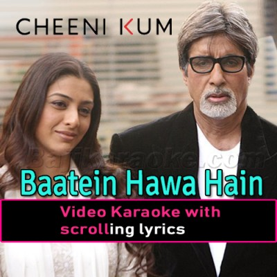 Baatein Hawa Hain Sari - Video Karaoke Lyrics - Shreya Goshal - Cheeni Kum