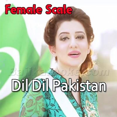 Dil Dil pakistan - Female Scale - Karaoke Mp3