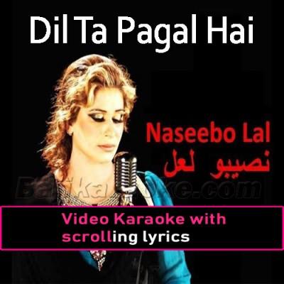 Dil Ta Pagal Hai -  Video Karaoke Lyrics