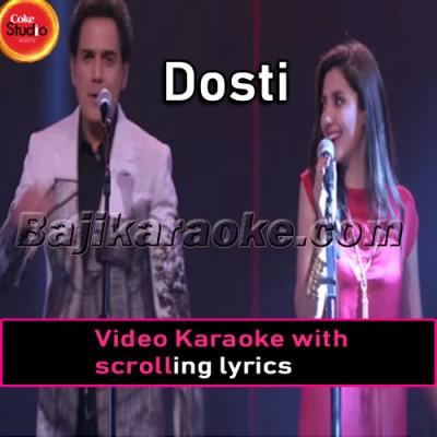 Dosti - Original Version -  Video Karaoke Lyrics