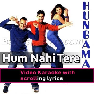 Hum Nahi Tere Dushmano Mein -  Video Karaoke Lyrics