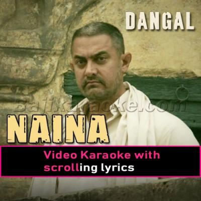 Naina Jo Sanjhe Khawab - Video Karaoke Lyrics