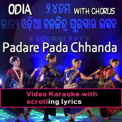 Padare Pada Chhanda - With Chorus - Video Karaoke Lyrics