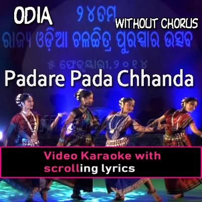 Padare Pada Chhanda - Without Chorus - Video Karaoke Lyrics
