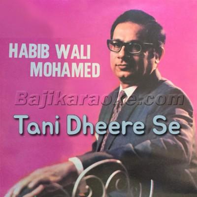 Tani Dheere Se Bolo - Mp3 Karaoke | Habib Wali Mohammad