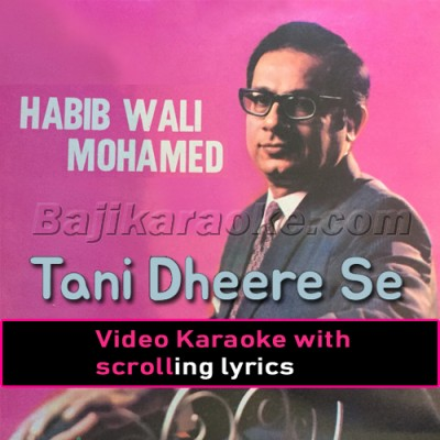 Tani Dheere Se Bolo - Video Karaoke Lyrics | Habib Wali Mohammad
