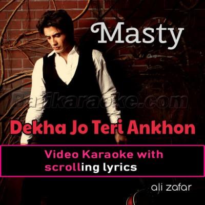 Dekha Jo Teri Aankhon Mein - Video Karaoke Lyrics