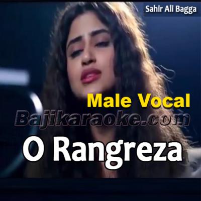 O Rangreza - With Male Vocal - karaoke Mp3