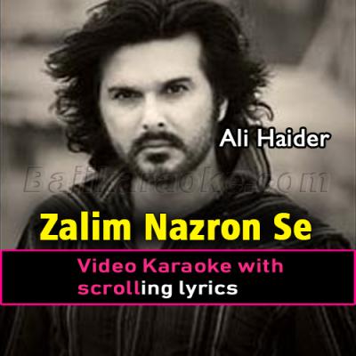 Zalim nazron se tum na - Video Karaoke Lyrics | Ali Haider