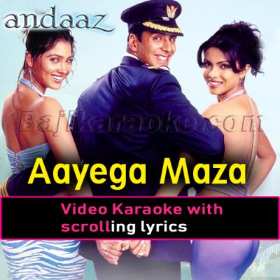 Ayega maza ab barsat ka - Video Karaoke Lyrics