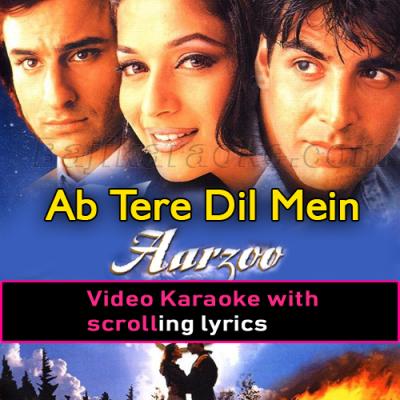 Ab Tere Dil Mein - Video Karaoke Lyrics
