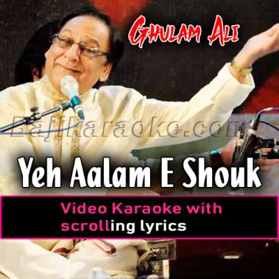 Ye aalam shauq ka dekha na jaye - Video Karaoke Lyrics