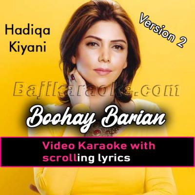 Buhe Barian - Version 2 - Video Karaoke Lyrics | Hadiqa Kiani