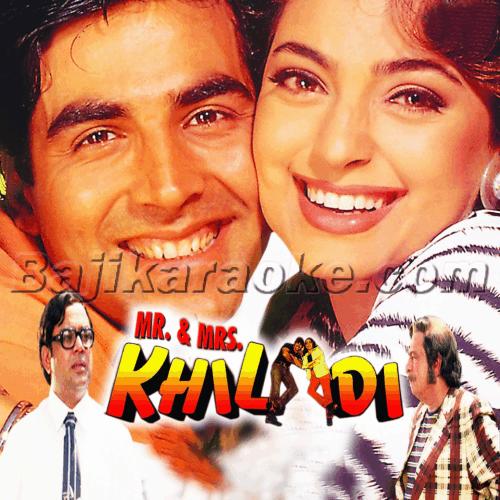 Akela Hai Mr Khiladi - MP3 Karaoke - Udit Narayan - Anuradha - Mr. and Mrs. Khiladi Mp3