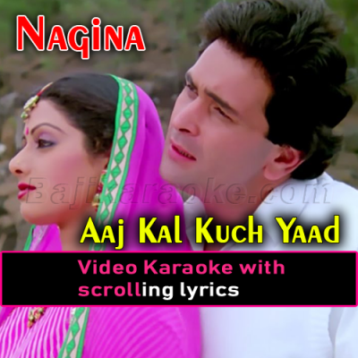 Aaj Kal Kuch Yaad Rehta Nahi - Video Karaoke Lyrics