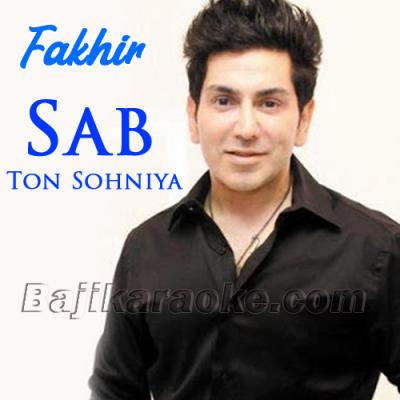 Sab Ton Sonhiye - Karaoke Mp3 | Faakhir