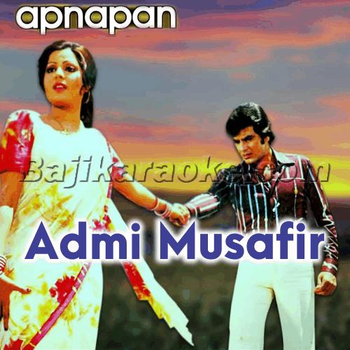 Aadmi musafir hai - Karaoke Mp3