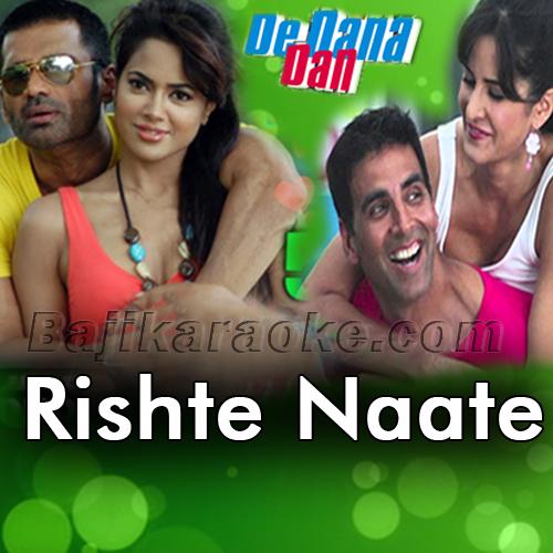 Rishte Naate - Karaoke Mp3