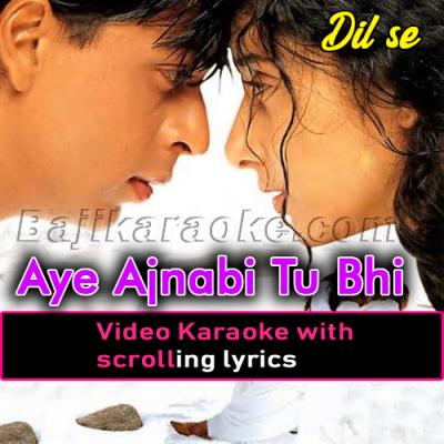 Aye Ajnabi Tu Bhi Kabhi Aawaz De - Video Karaoke Lyrics