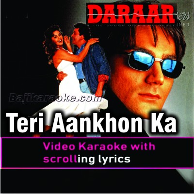 Teri Aankhon Ka Deewana Deewana - With Chorus - Video Karaoke Lyrics