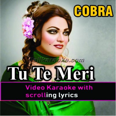 Tu Te Meri Akhiyan Di Neend Churayi - Video Karaoke Lyrics
