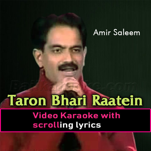 Wo Taron Bhari Raatein - Video Karaoke Lyrics